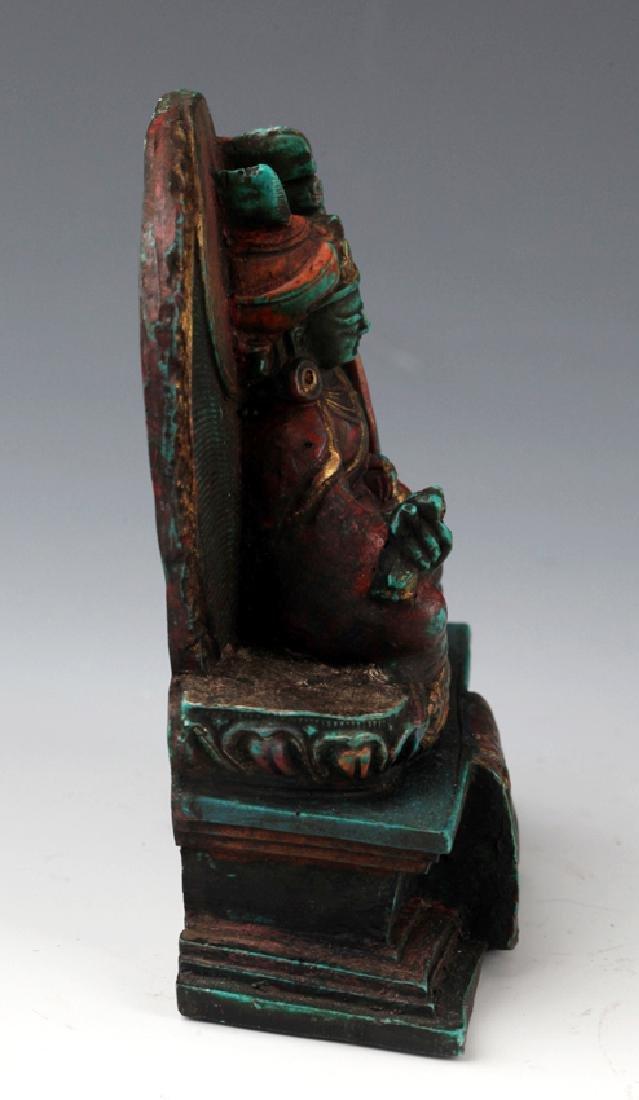 AN OLD IRON TEAPOT AND TIBETAN BUDDHISM DECORATION - 10