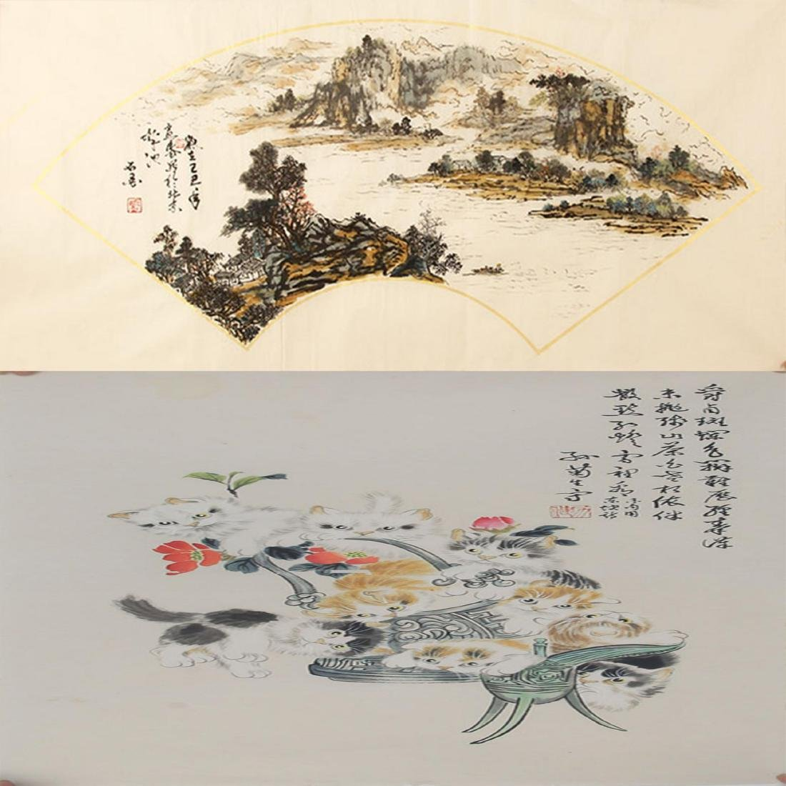 FINE CHINESE PAINTING ATTRIBUTED TO SUN JU SHENG, SHI