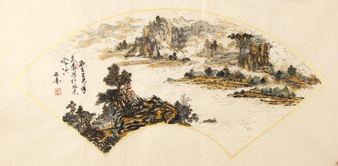 FINE CHINESE PAINTING ATTRIBUTED TO SUN JU SHENG, SHI - 7