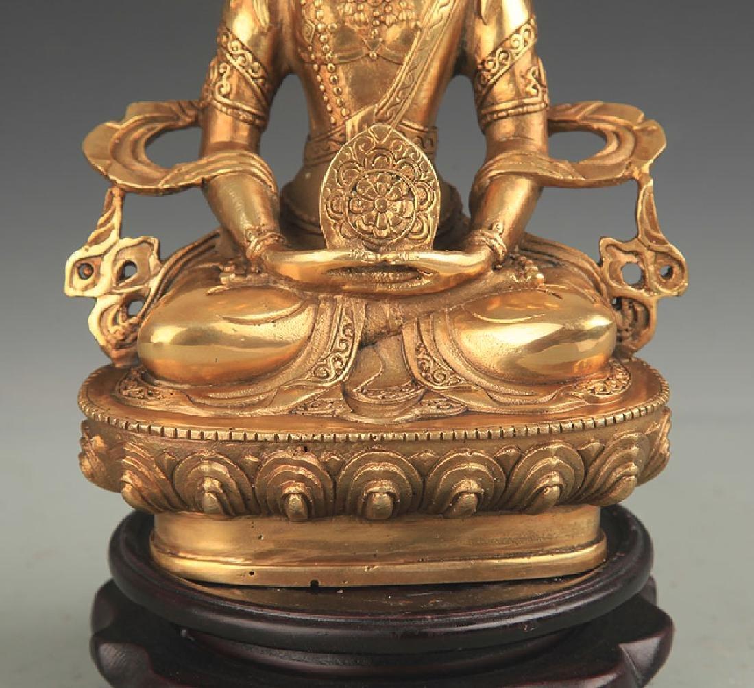 TIBETAN BUDDHISM BRONZE VAIROCANA BUDDHA - 3