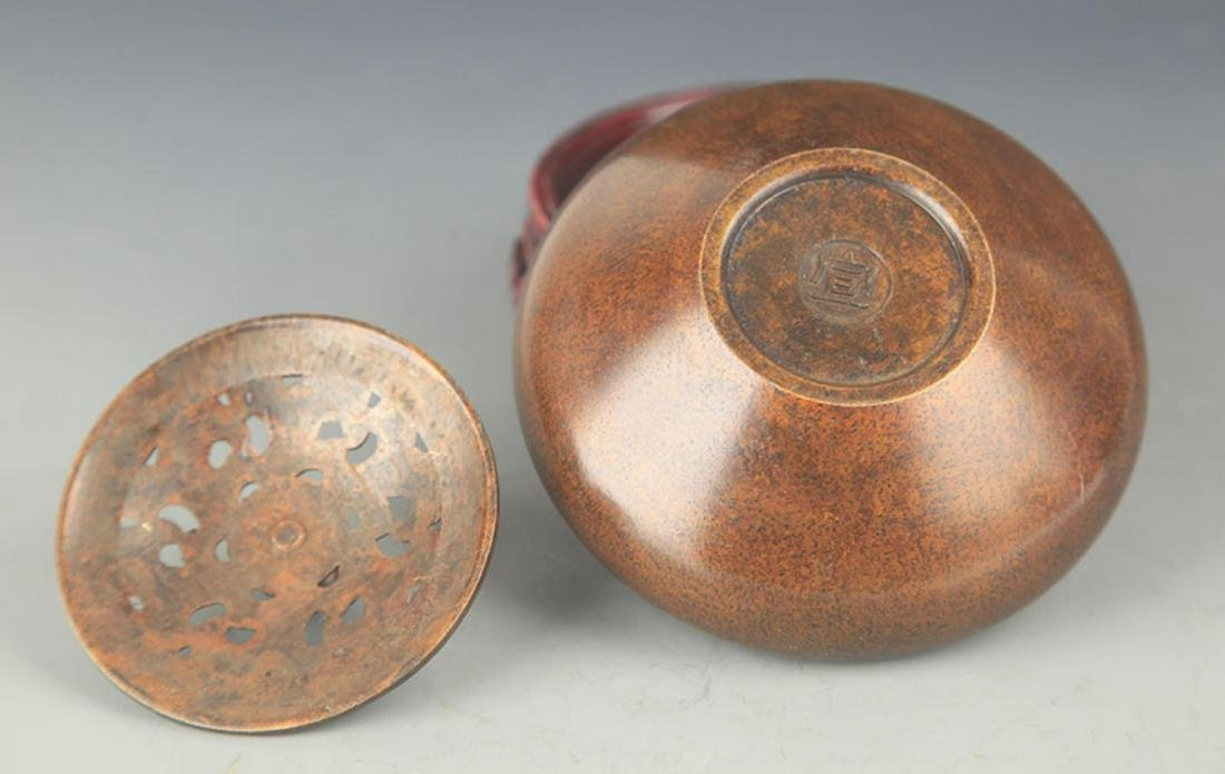 BRONZE AROMATHERAPY IN EARTHENWARE BASIN STYLE - 3