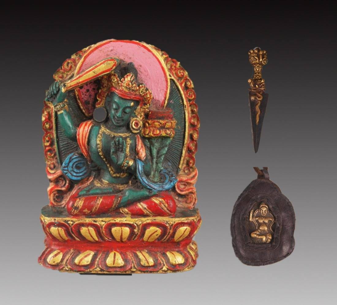 GROUP OF TWO TIBETAN BUDDHA FIGURE