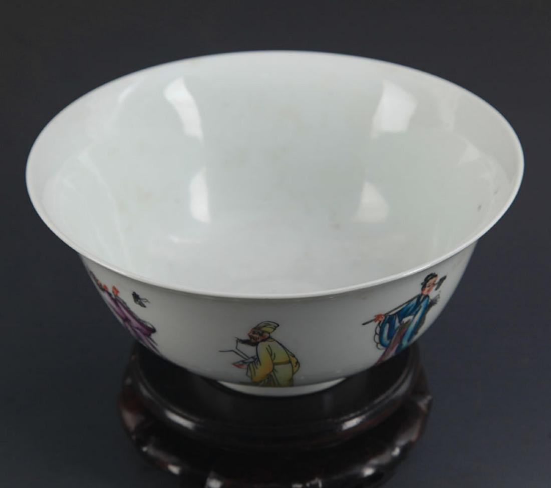 A FAMILLE ROSE THE EIGHT IMMORTALS BOWL - 2