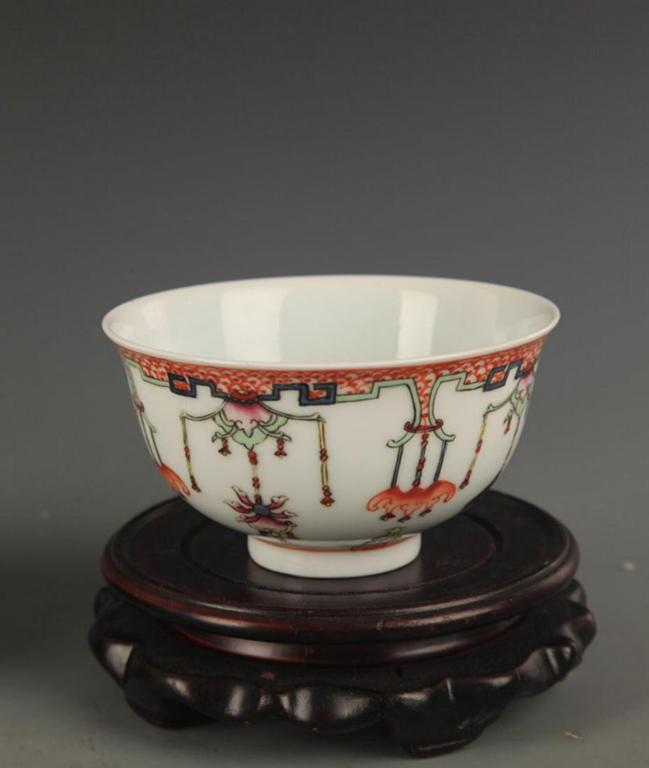 DOU CAI COLOR FINELY PAINTED PORCELAIN BOWL - 2