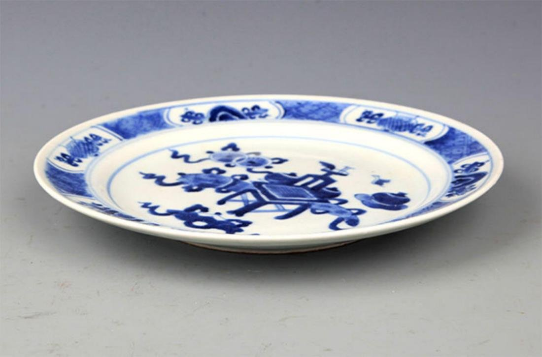 PAIR OF BLUE AND WHITE PORCELAIN PLATE - 2