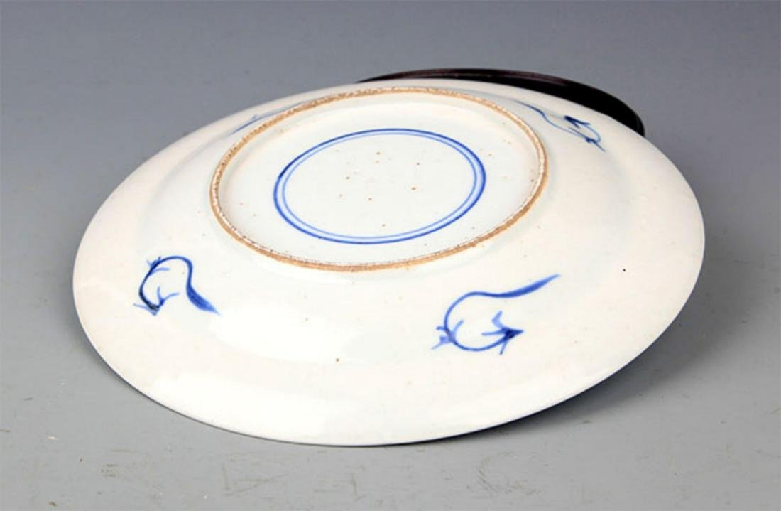 PAIR OF BLUE AND WHITE PORCELAIN PLATE - 3