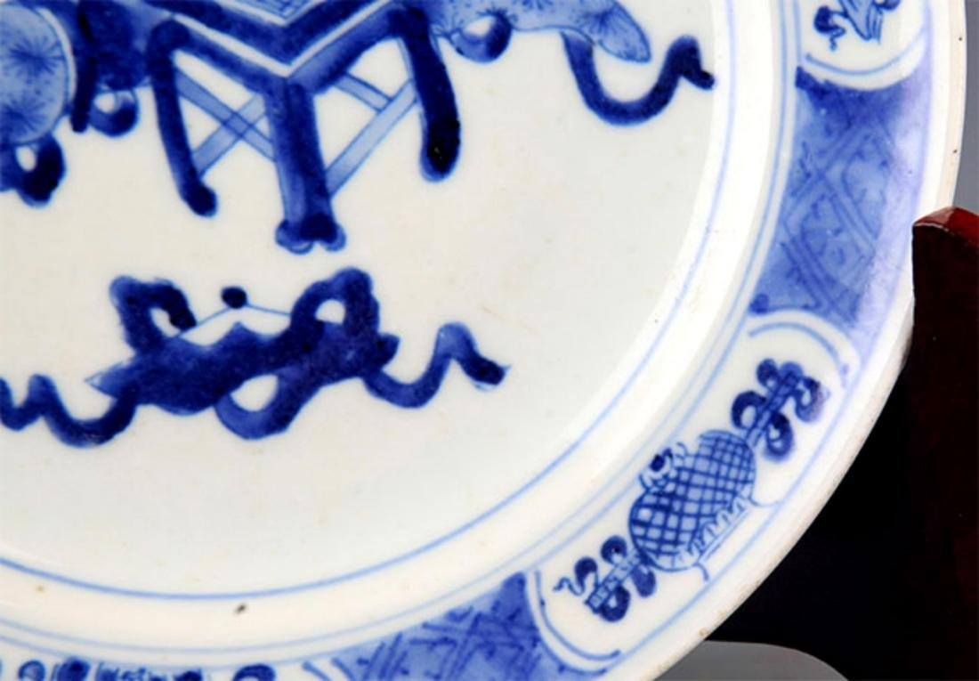 PAIR OF BLUE AND WHITE PORCELAIN PLATE - 6