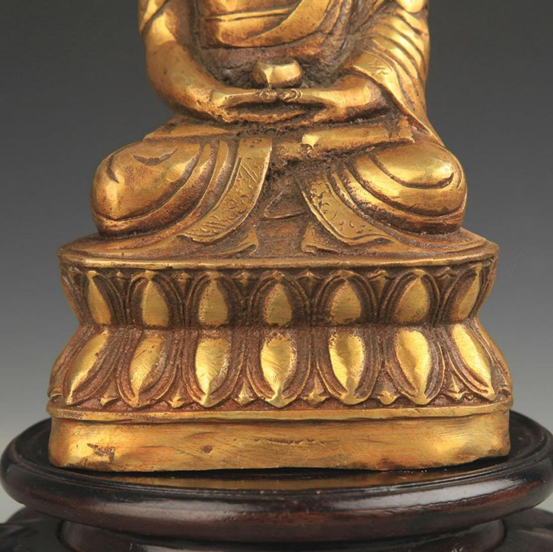 TIBETAN BUDDHISM BRONZE AMITABHA STATUE - 3