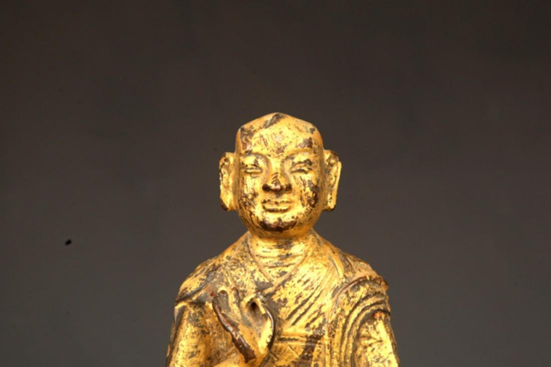 A FINE GILT BRONZE STATUE IN FIGURE OF GANDHARA - 2