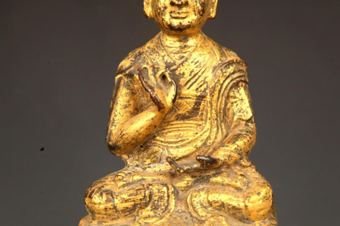 A FINE GILT BRONZE STATUE IN FIGURE OF GANDHARA - 3