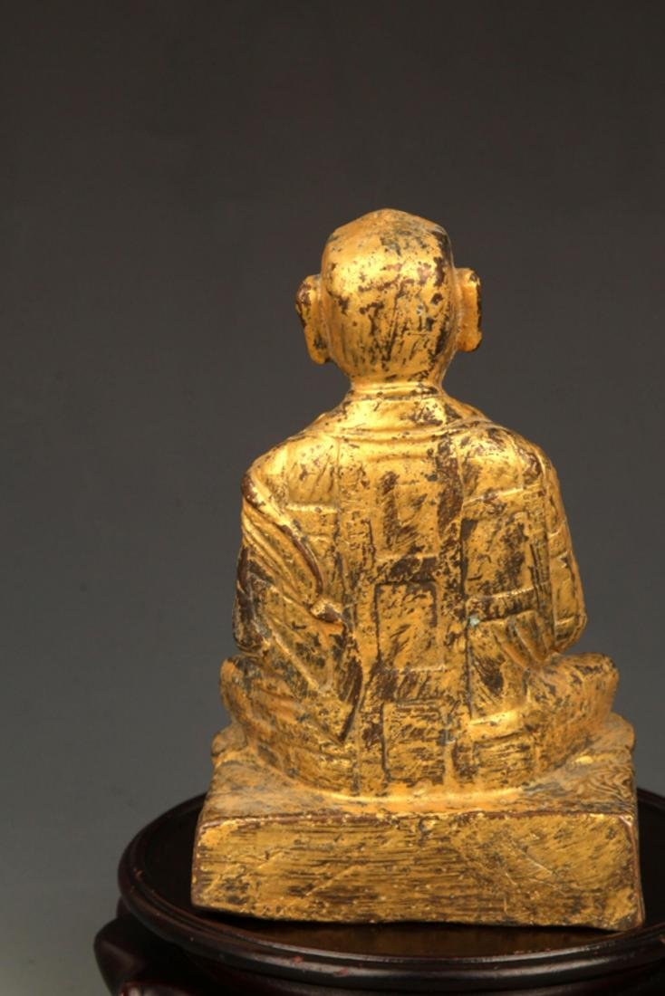A FINE GILT BRONZE STATUE IN FIGURE OF GANDHARA - 6