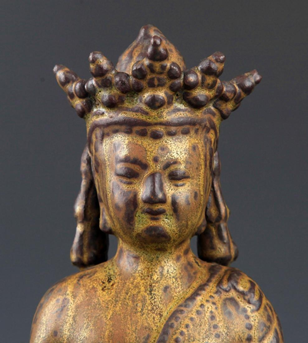 A FINELY MADE BRONZE PHARMACIST BUDDHA - 2