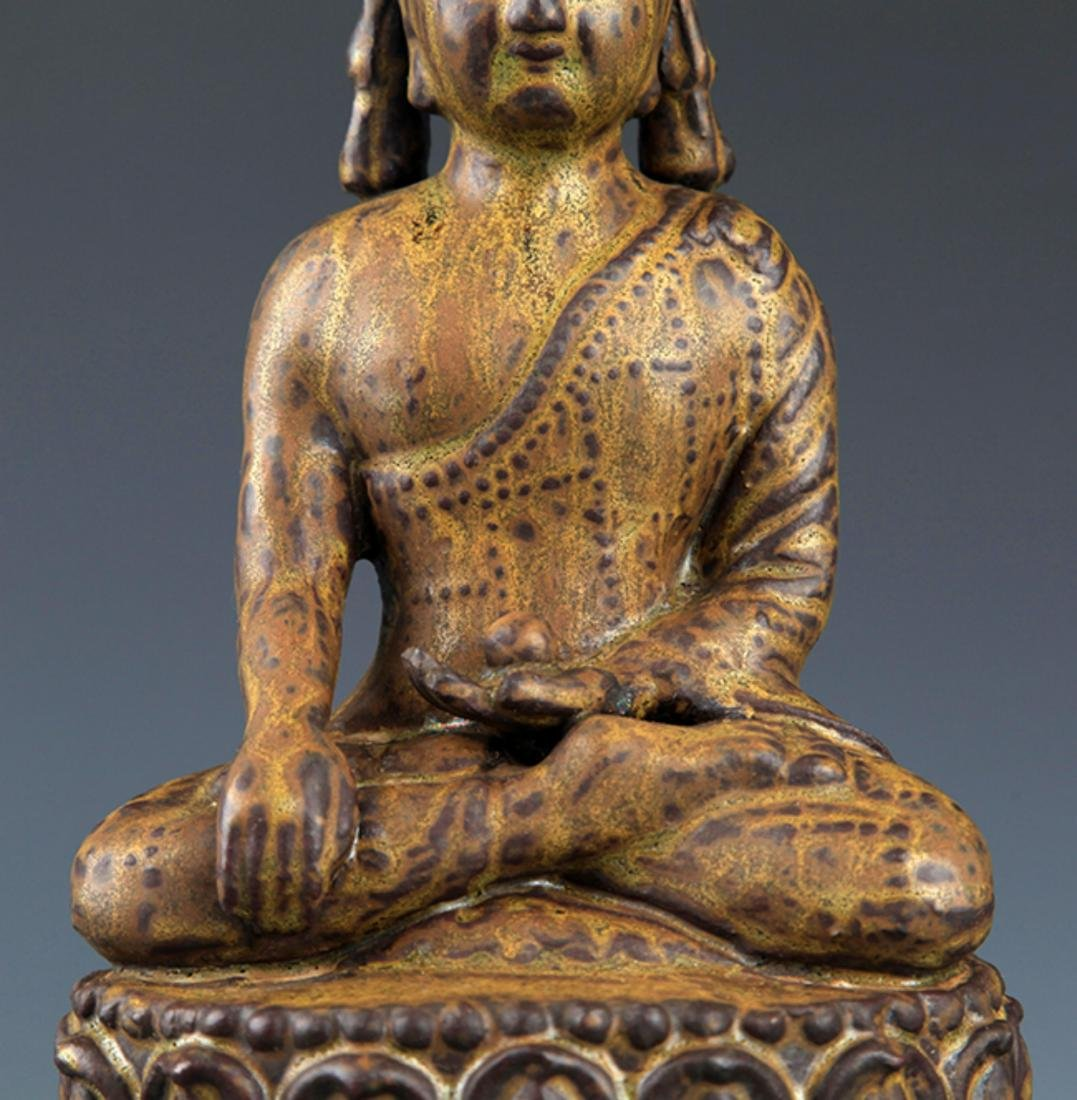 A FINELY MADE BRONZE PHARMACIST BUDDHA - 3