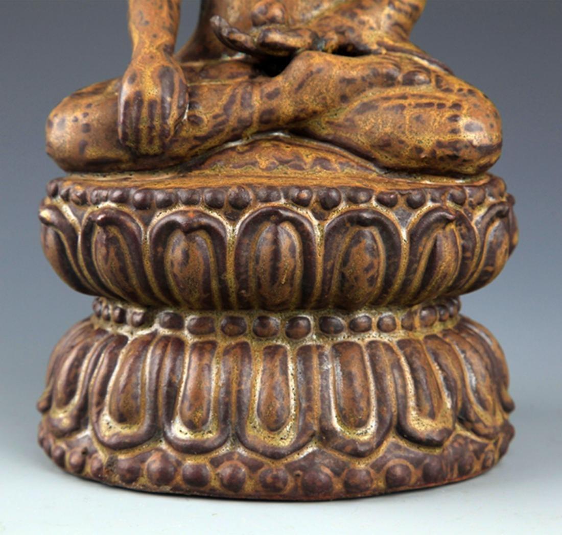 A FINELY MADE BRONZE PHARMACIST BUDDHA - 4
