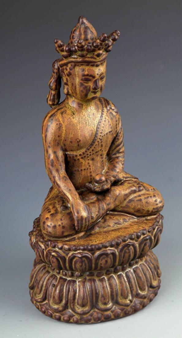 A FINELY MADE BRONZE PHARMACIST BUDDHA - 5