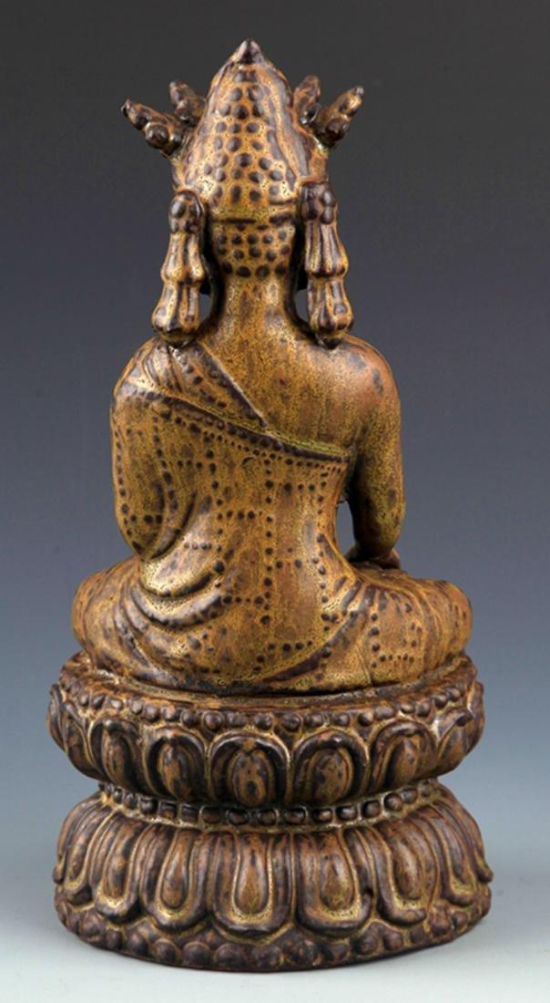 A FINELY MADE BRONZE PHARMACIST BUDDHA - 6