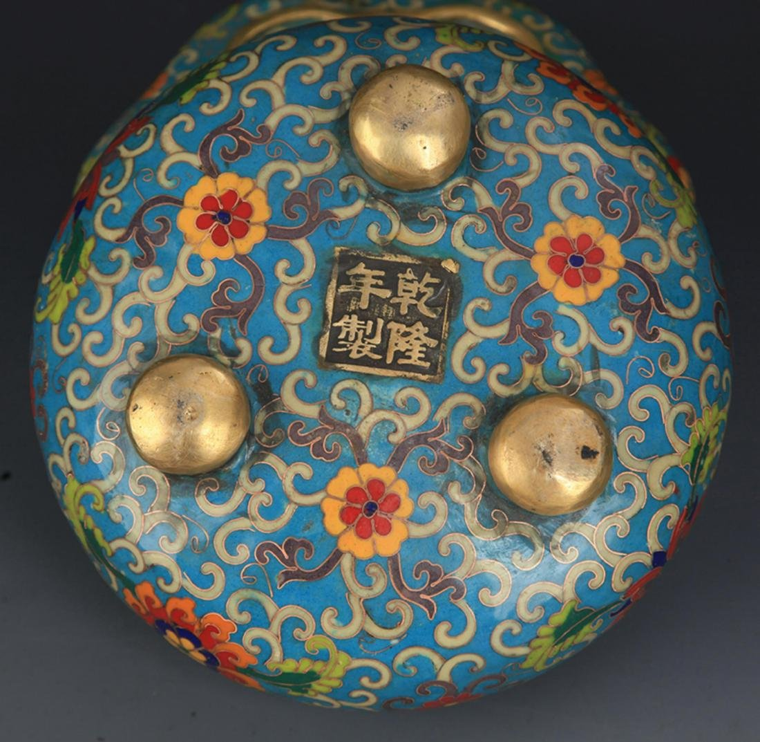 A CLOISONNE DRAGON AROMATHERAPY WITH BASE - 8