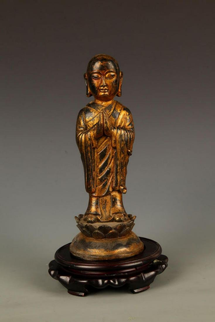 A FINELY MADE BRONZE YOUNG BUDDHA STATUE