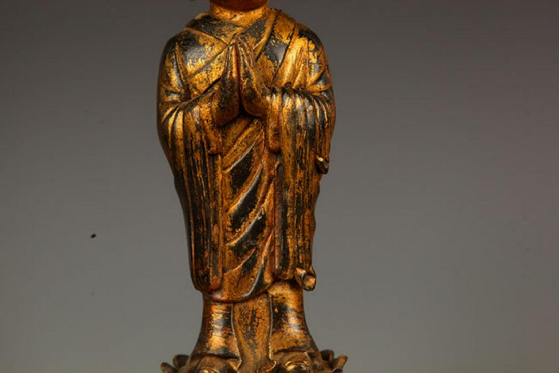 A FINELY MADE BRONZE YOUNG BUDDHA STATUE - 3