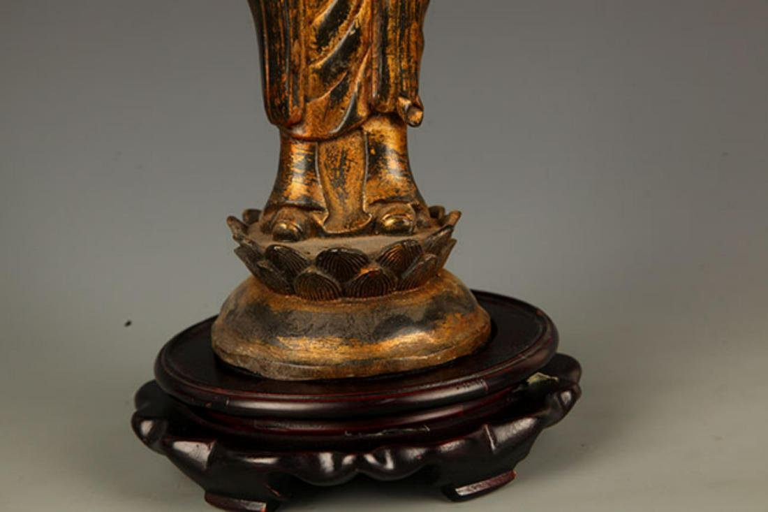 A FINELY MADE BRONZE YOUNG BUDDHA STATUE - 4