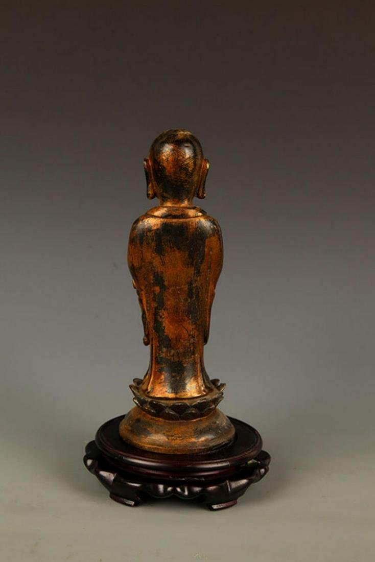A FINELY MADE BRONZE YOUNG BUDDHA STATUE - 6