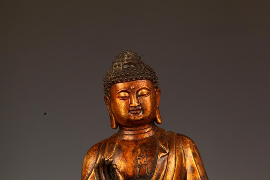 A FINELY CARVED AKSHOBHYA BUDDHA FIGURE - 2