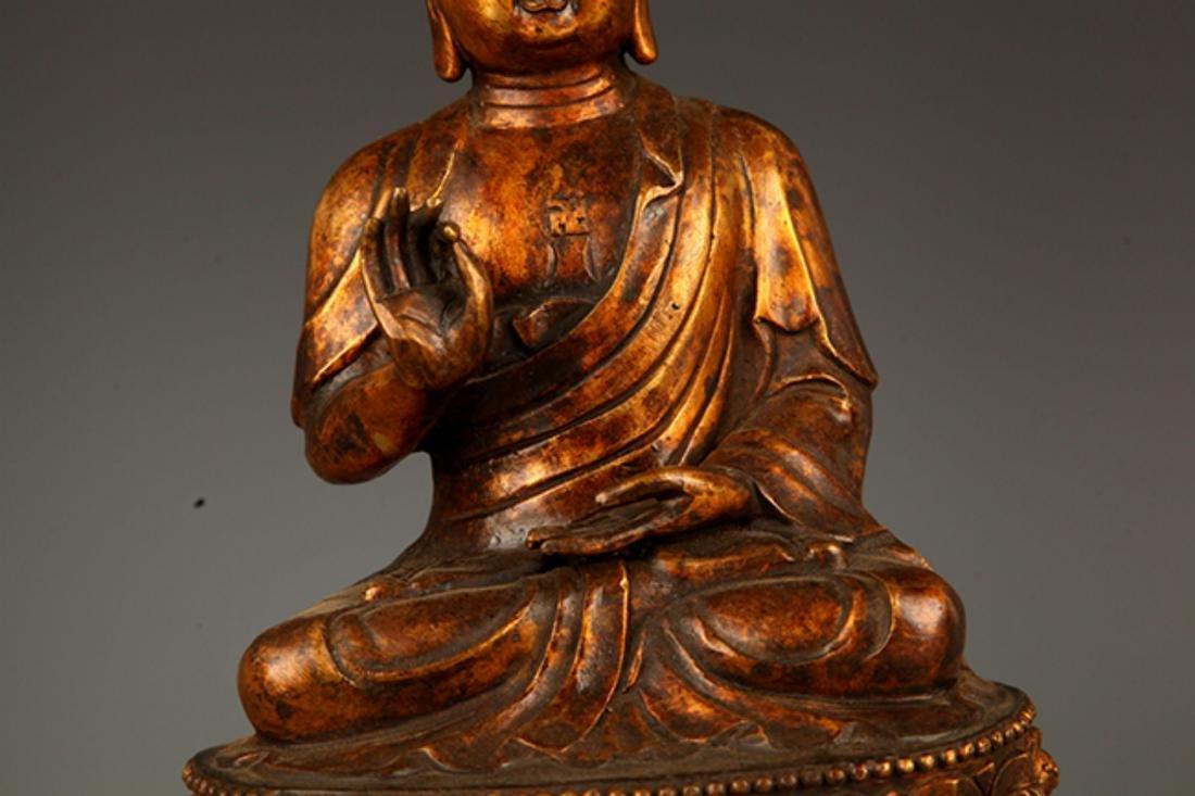 A FINELY CARVED AKSHOBHYA BUDDHA FIGURE - 3