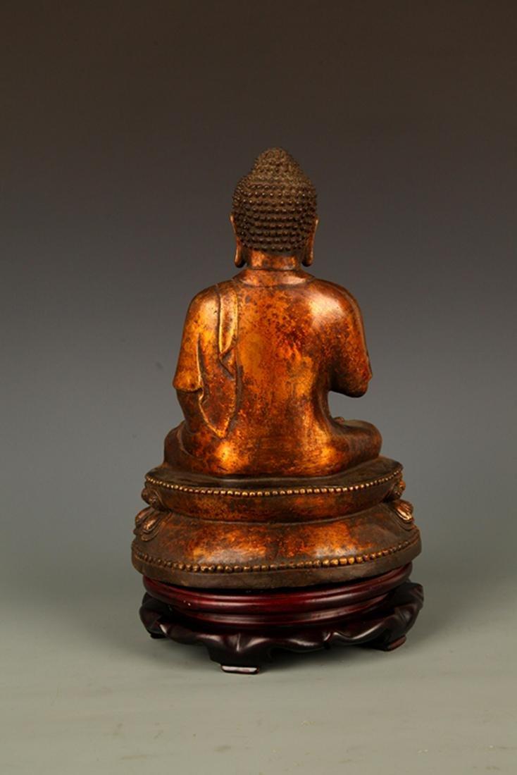 A FINELY CARVED AKSHOBHYA BUDDHA FIGURE - 6