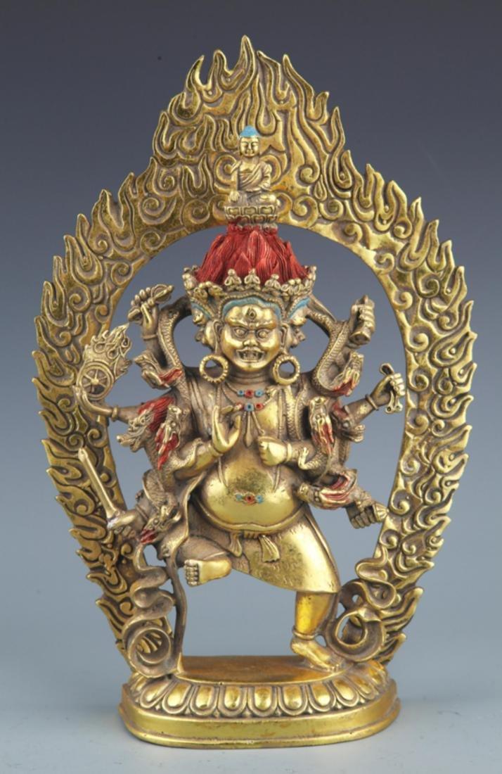 A FINELY TIBETAN BUDDHISM YAMANTAKA FIGURE