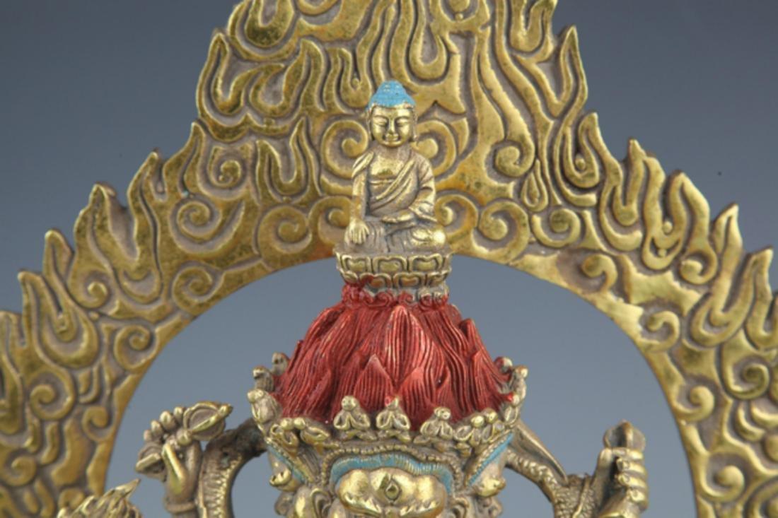 A FINELY TIBETAN BUDDHISM YAMANTAKA FIGURE - 2