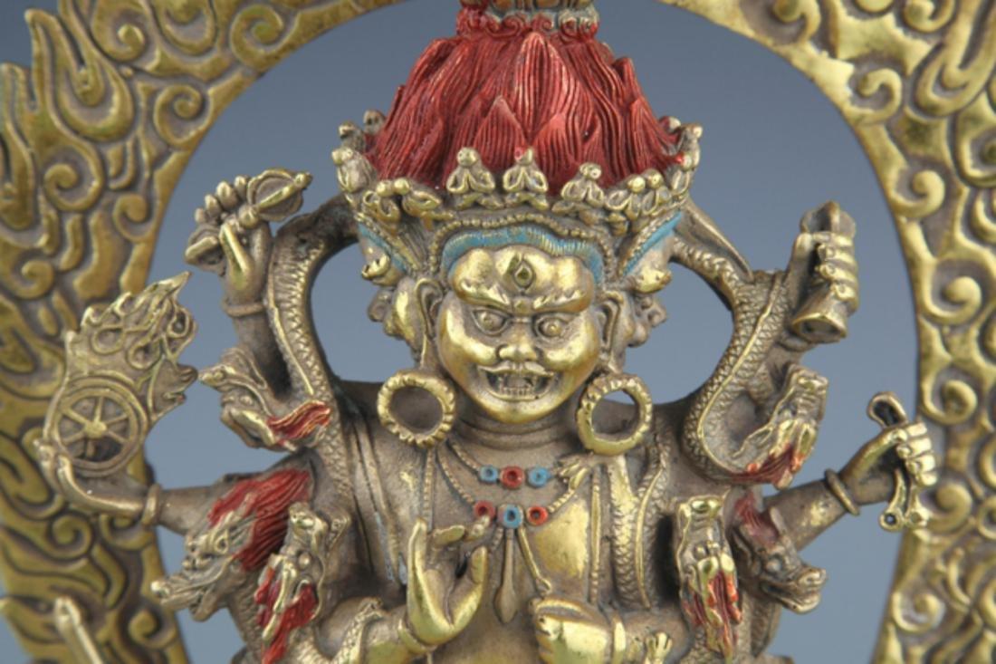 A FINELY TIBETAN BUDDHISM YAMANTAKA FIGURE - 3