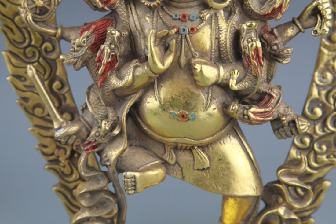 A FINELY TIBETAN BUDDHISM YAMANTAKA FIGURE - 4