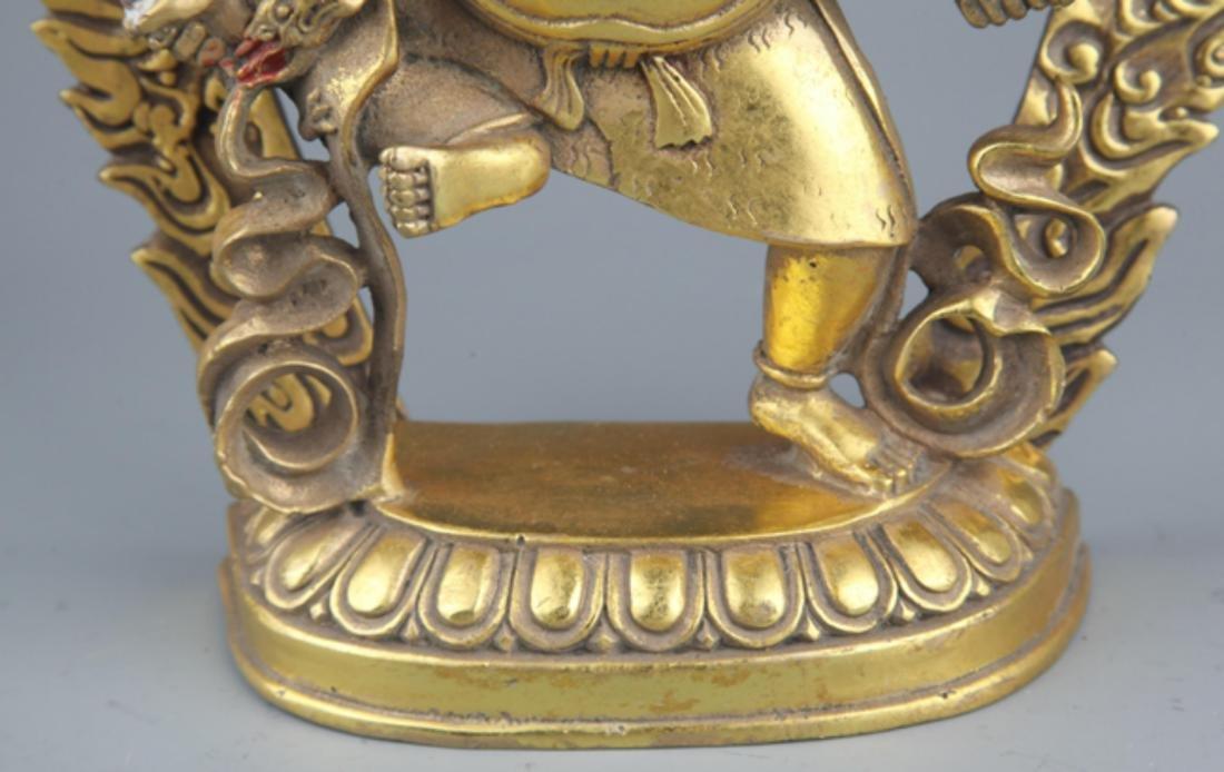 A FINELY TIBETAN BUDDHISM YAMANTAKA FIGURE - 5
