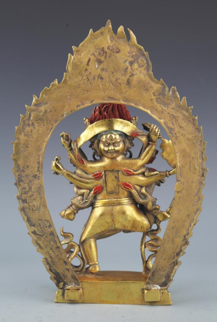 A FINELY TIBETAN BUDDHISM YAMANTAKA FIGURE - 7