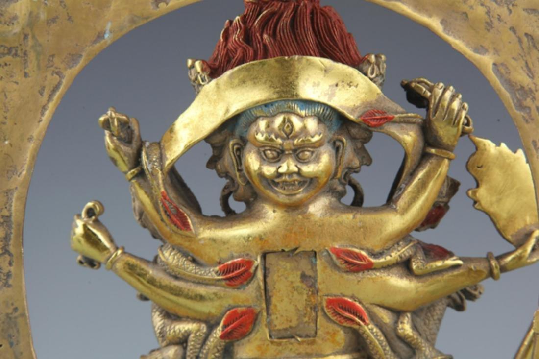 A FINELY TIBETAN BUDDHISM YAMANTAKA FIGURE - 8
