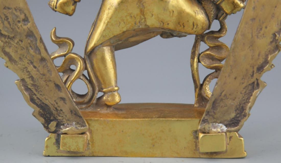 A FINELY TIBETAN BUDDHISM YAMANTAKA FIGURE - 9
