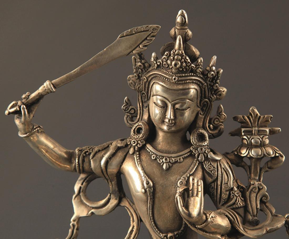 A BRONZE TIBETAN MANJUSRI BUDDHA - 2