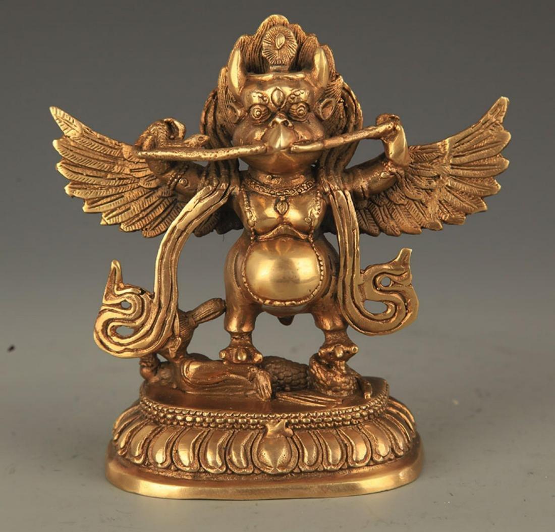 TIBETAN BUDDHISM BRONZE GARUDA FIGURE