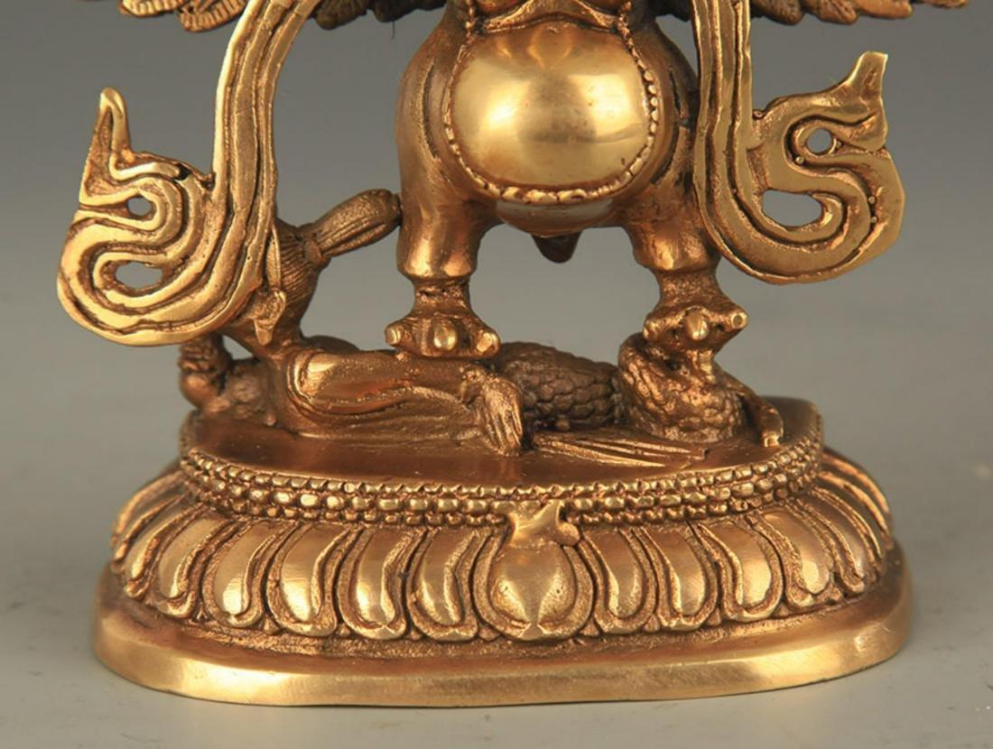 TIBETAN BUDDHISM BRONZE GARUDA FIGURE - 3