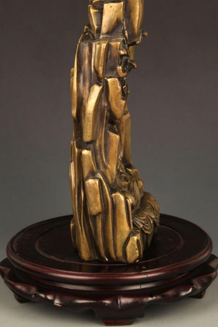 A FINELY CARVED BRONZE GUAN YIN - 5