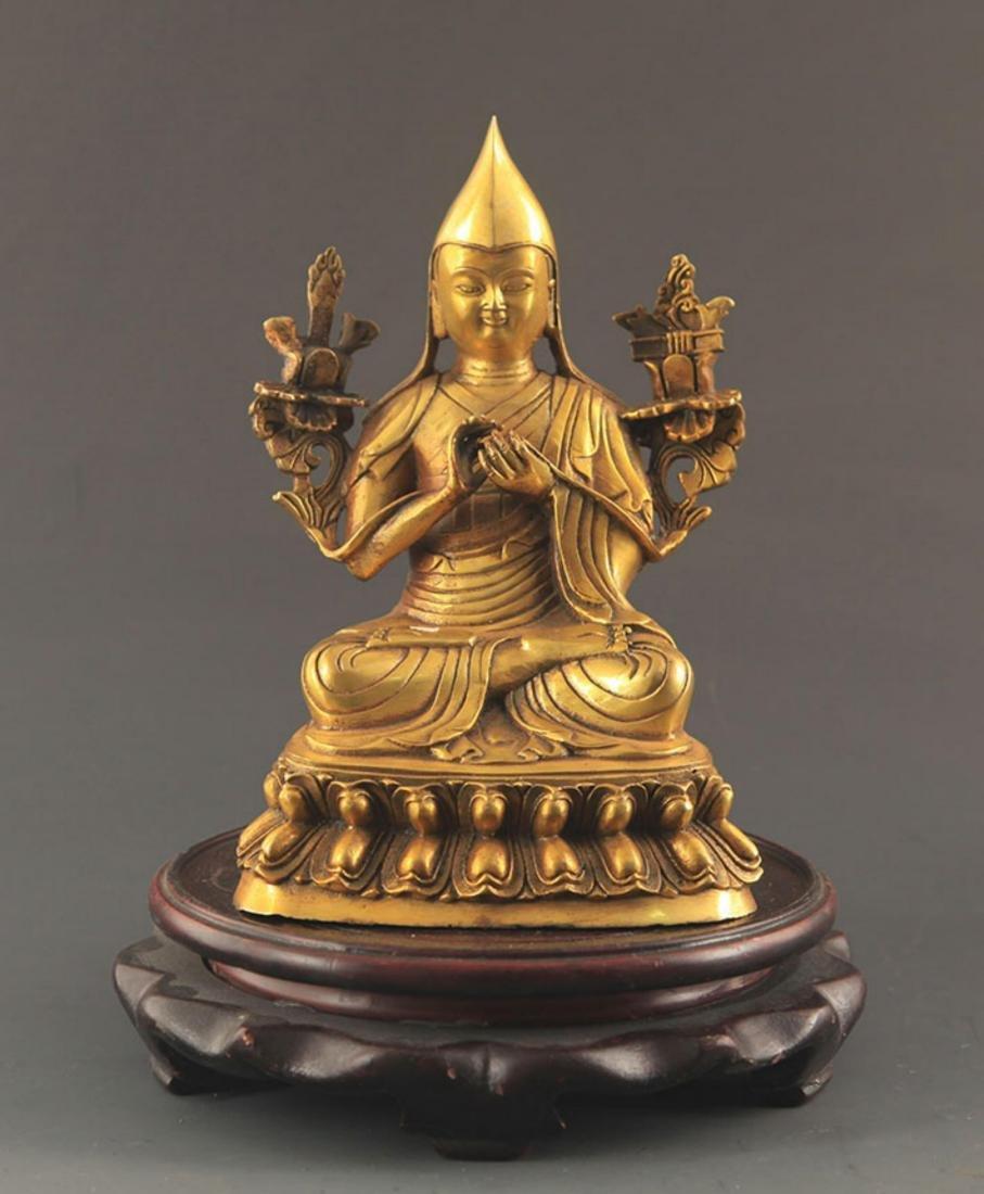 A TIBETAN BUDDHISM ZONGKABA STATUE
