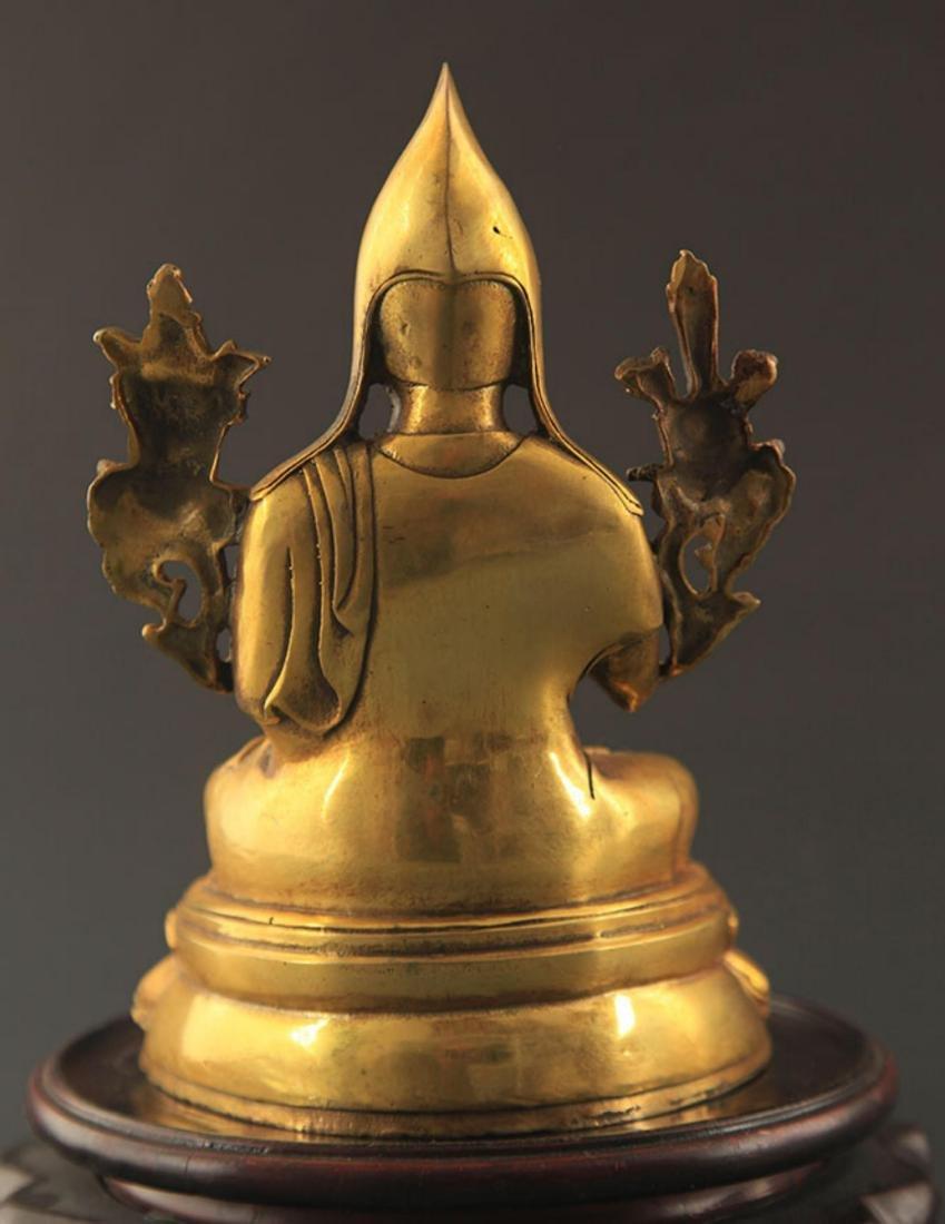 A TIBETAN BUDDHISM ZONGKABA STATUE - 5