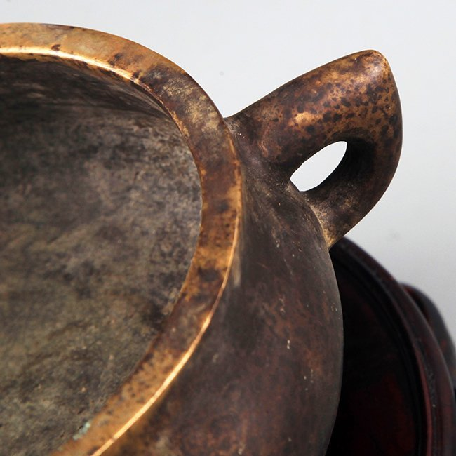 A FINE TRIPOD FOOT BRONZE CENSER - 3