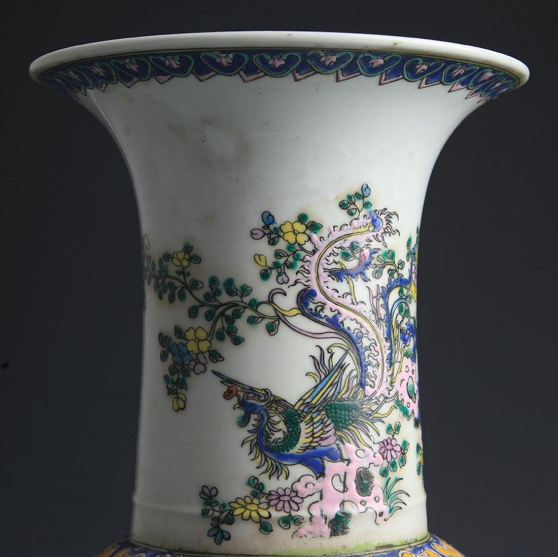 A TALL FAMILLE-VERTE STORY PAINTED JAR - 3