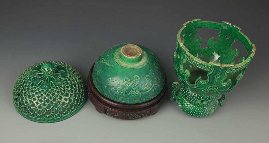 A GREEN COLOR HALLOW MADE AROMATHERAPY BURNER - 6