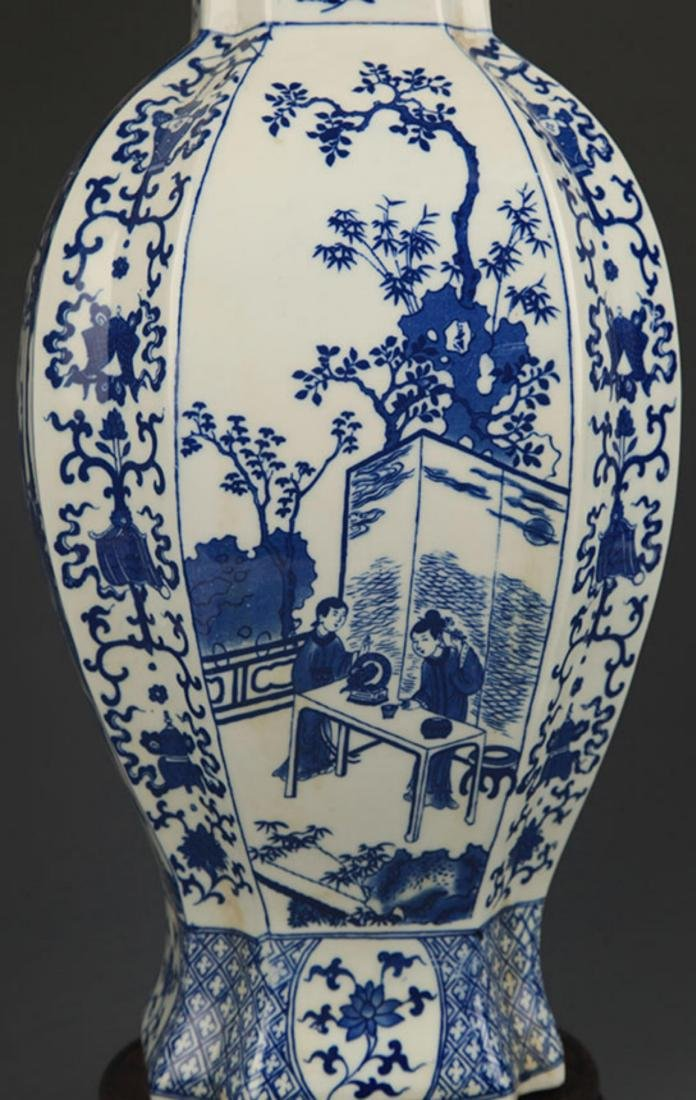 BLUE AND WHITE STORY PATTERN GENERAL STYLE JAR - 3