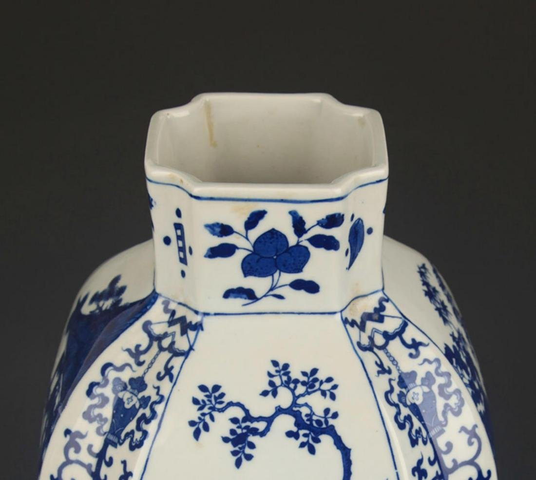 BLUE AND WHITE STORY PATTERN GENERAL STYLE JAR - 4