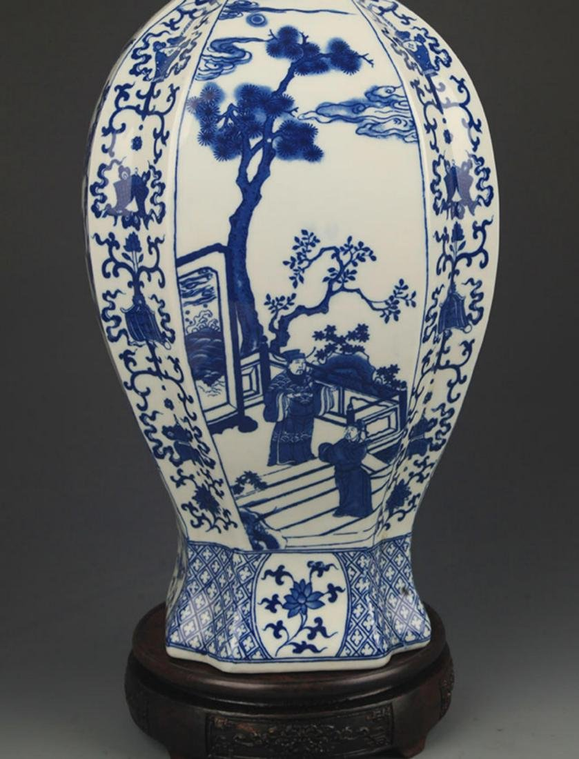 BLUE AND WHITE STORY PATTERN GENERAL STYLE JAR - 5