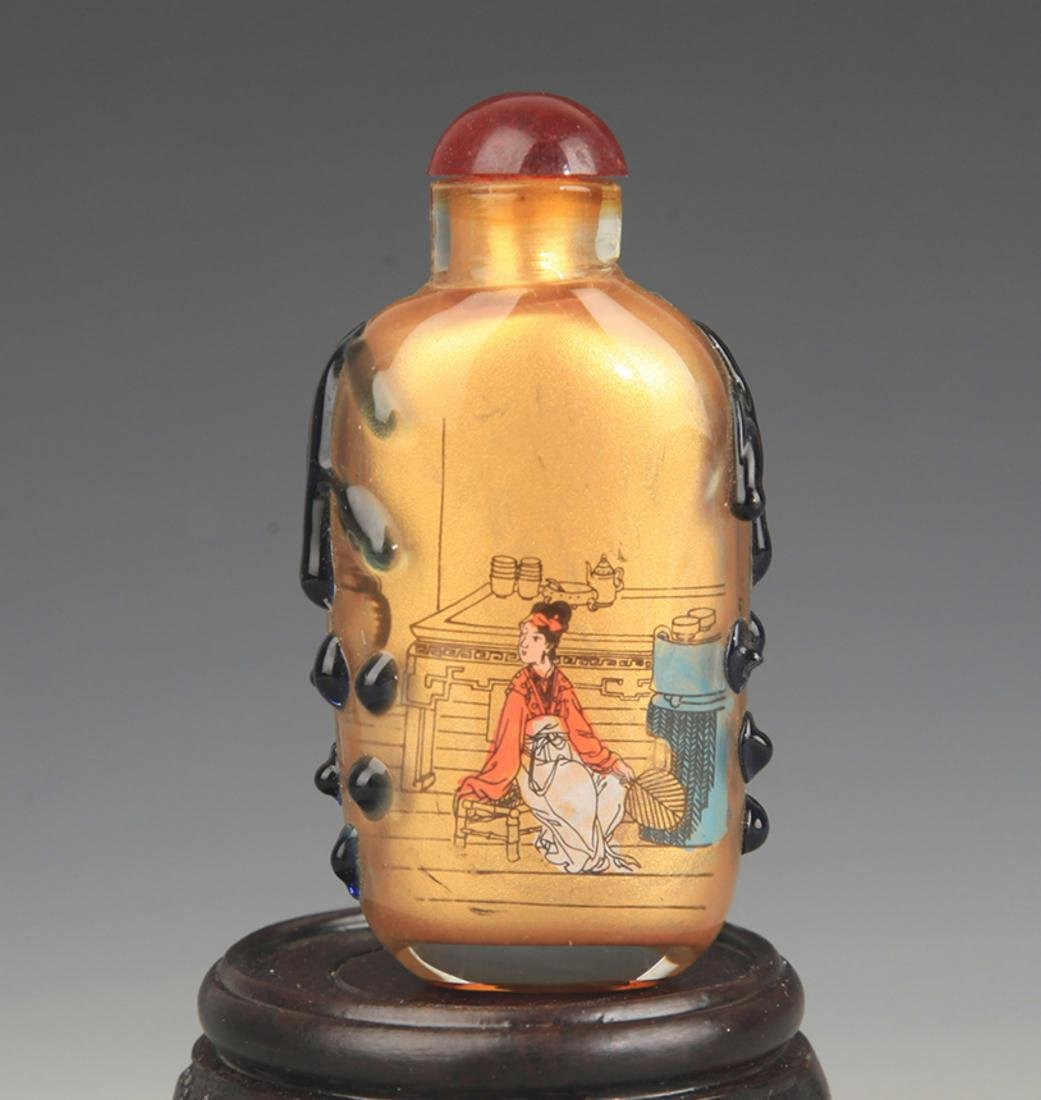 A FINE CHARACTER PAINTED SNUFF BOTTLE