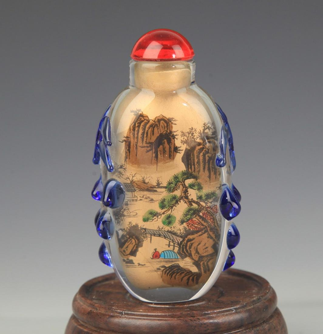 A FINE INNER LANDSCAPE PAINTED SNUFF BOTTLE